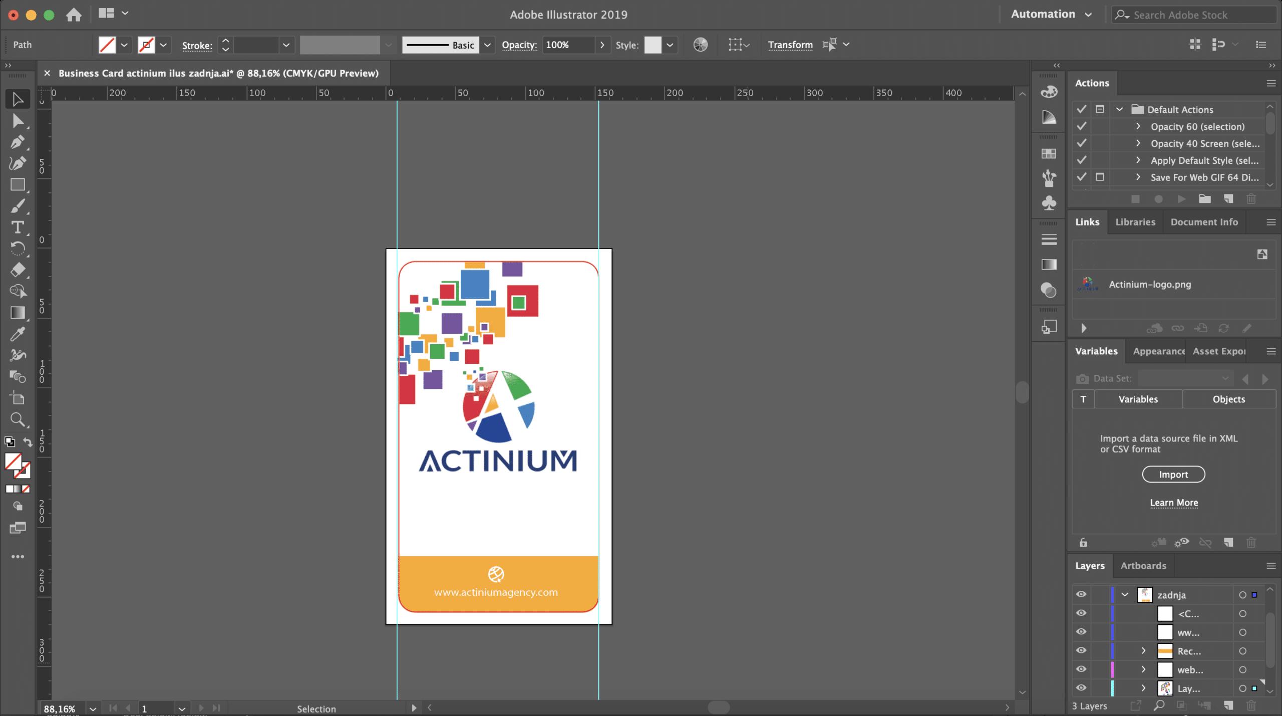 Actinium Business Card