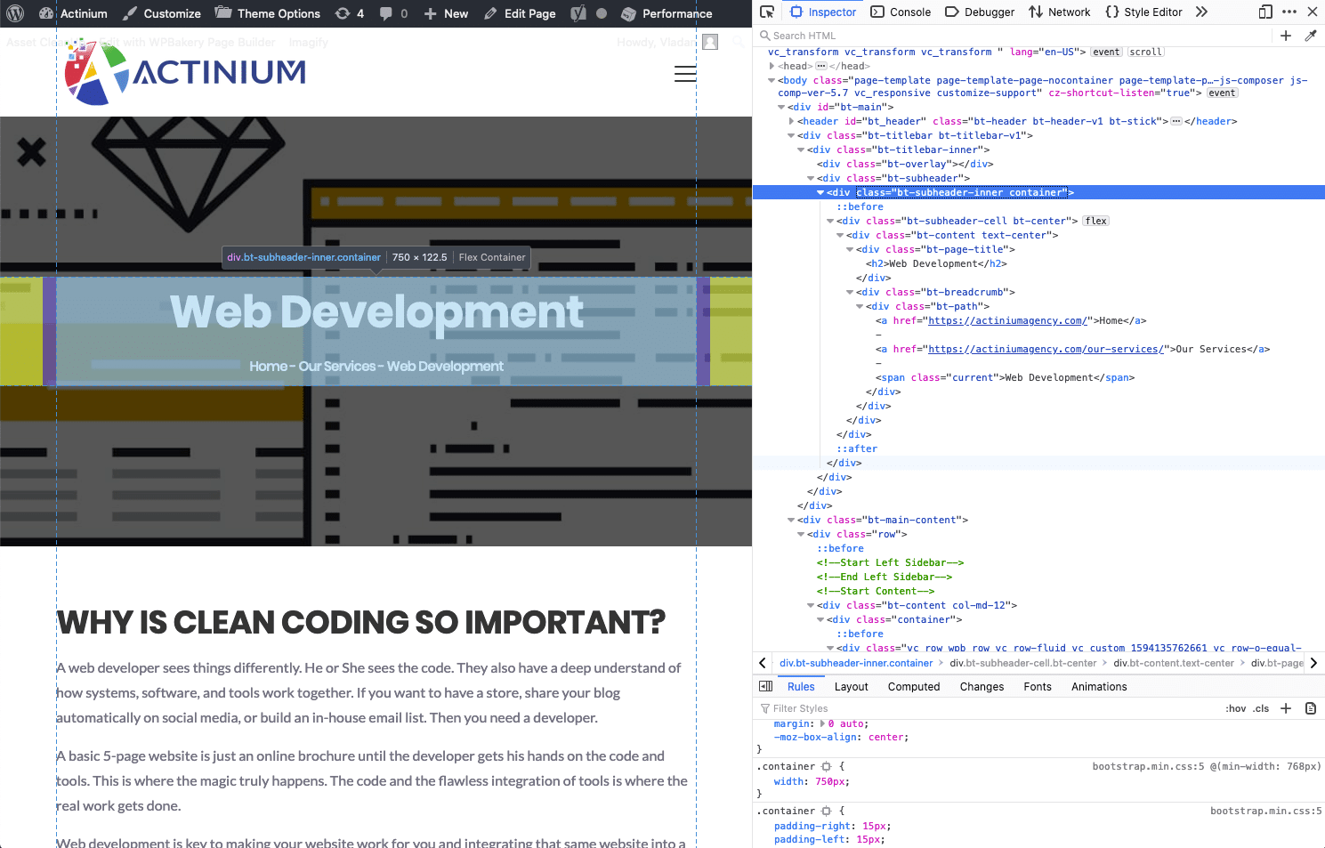 web development company Actinium